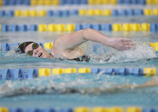 Hannah swimming at the Paralympic trials. Photo: Getty Images North America